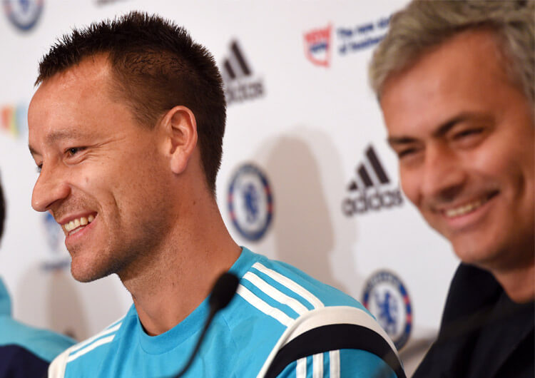 John Terry with Jose Mourinho