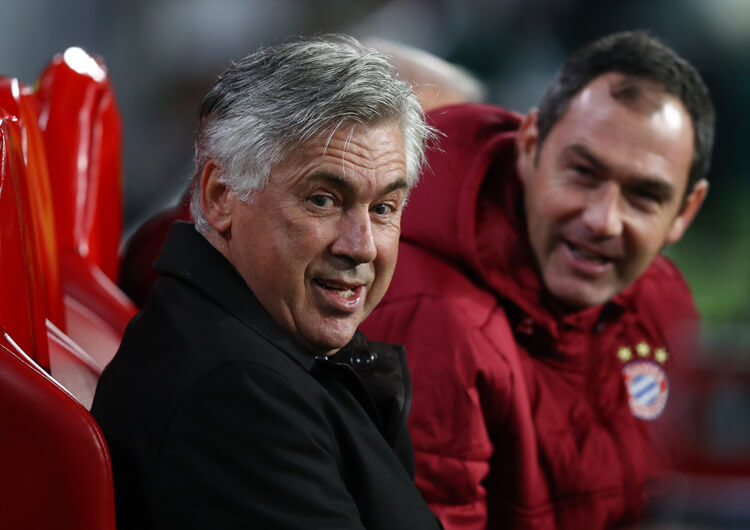 Paul Clement with Carlo Ancelotti at Bayern Munich